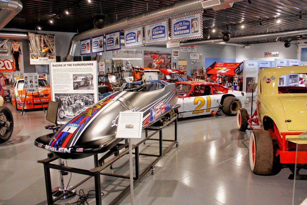 The North East Motor Sports Museum at New Hampshire Motor Speedway features hundreds of artifacts from New England's long and storied racing history. From cars and trophies to race suits and books, you can see it all at this museum. JON BODELL / Insider staff