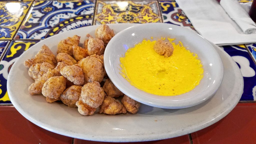An order of fried gator bites at the Hungry Buffalo Tavern in Loudon. JON BODELL / Insider staff