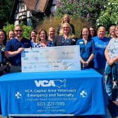 VCA Charities presented Pope Memorial SPCA with check for $6,400