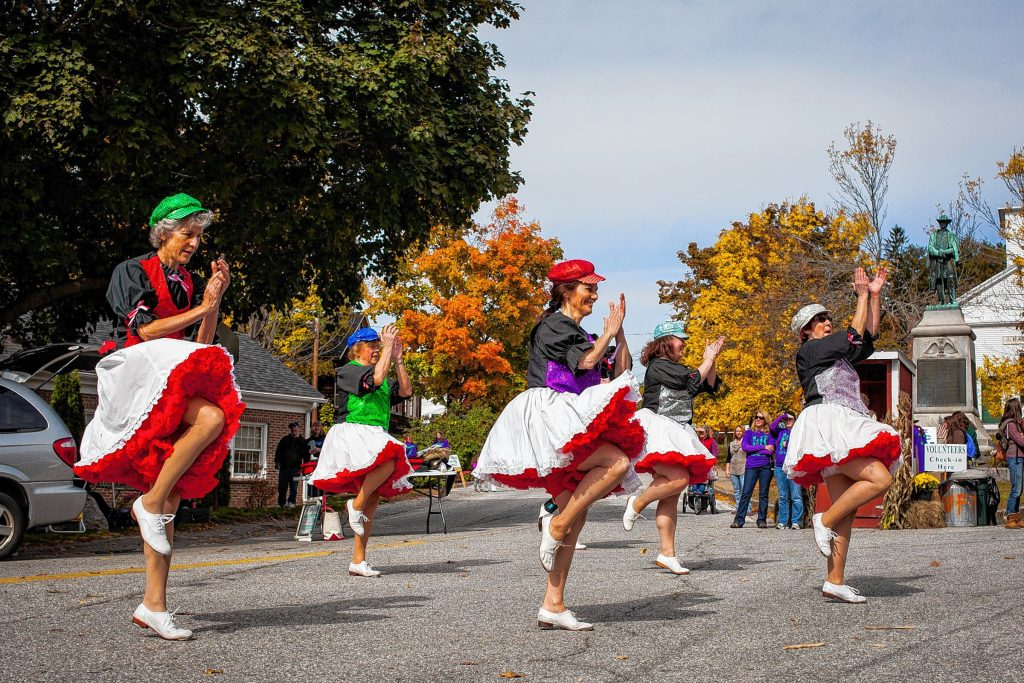 Granite State Cloggers perform at this year's Warner Fall Foliage Festival on Saturday, Oct. 10, 2015. (ELIZABETH FRANTZ / Monitor staff)