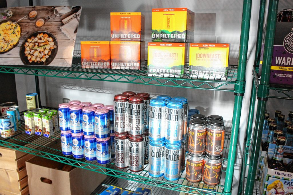 For a smaller store, Local Baskit has a hearty selection of craft beer and cider, including many fall varieties.  JON BODELL / Insider staff