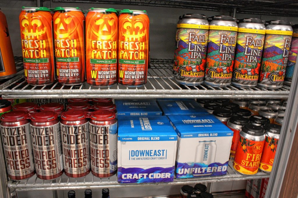 The newest craft beer store in Concord is Georgia's Northside, which opened for take-out lunch and dinner options a few months ago and just recently got its license to sell craft beer -- including plenty of fall seasonals.  JON BODELL / Insider staff
