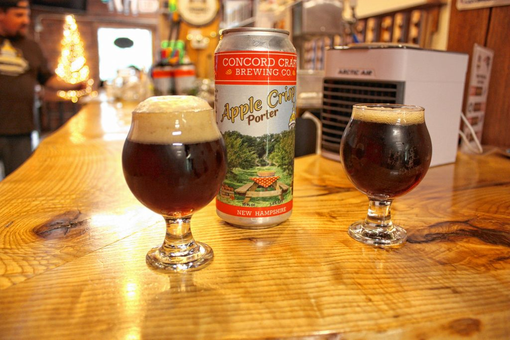 Concord Craft Brewing's new Apple Crisp Porter is made with apples from Gould Hill Farm in Contoocook. JON BODELL / Insider staff