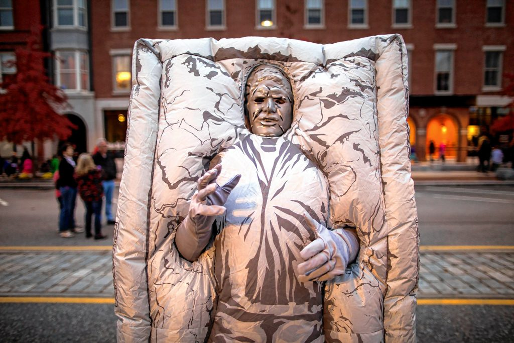 One of the many interesting customs at the Halloween Howl in downtown Concord on Friday evening, October 25, 2019. GEOFF FORESTER