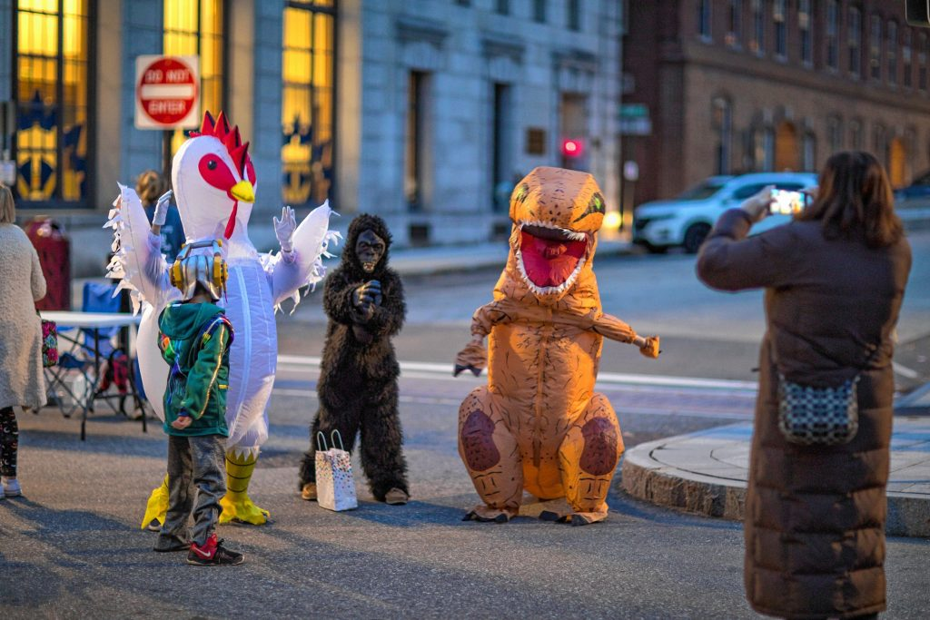 There was some dancing in the street at the Halloween Howl in downtown Concord on Friday evening, October 25, 2019. GEOFF FORESTER