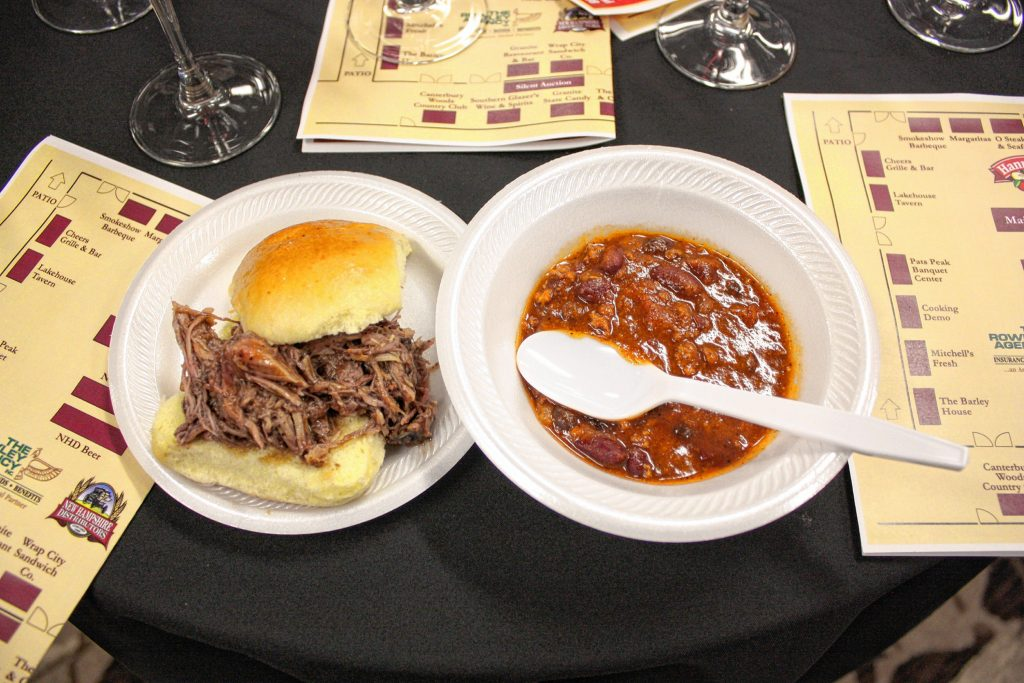 A pulled-pork slider with a bowl of buffalo chili from the Hungry Buffalo. JON BODELL / Insider staff