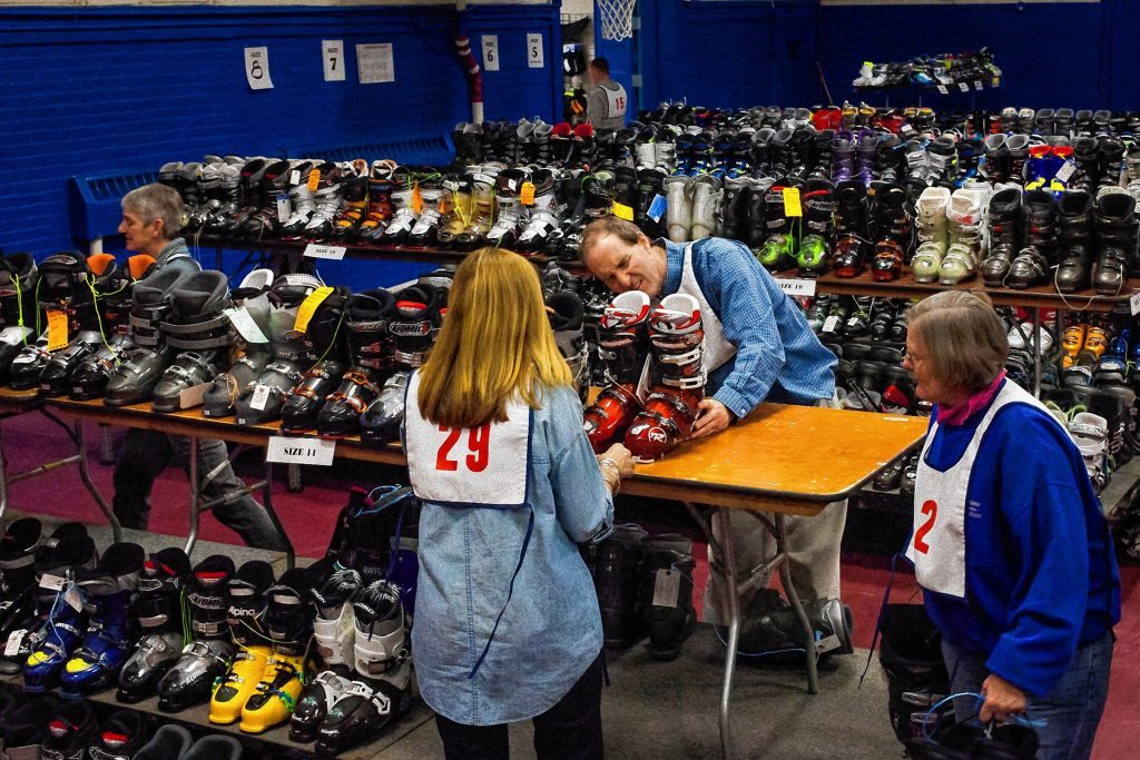 The Concord Capital Ski and Outing Club is looking for a new home for its annual Ski and Skate Sale. ELIZABETH FRANTZ