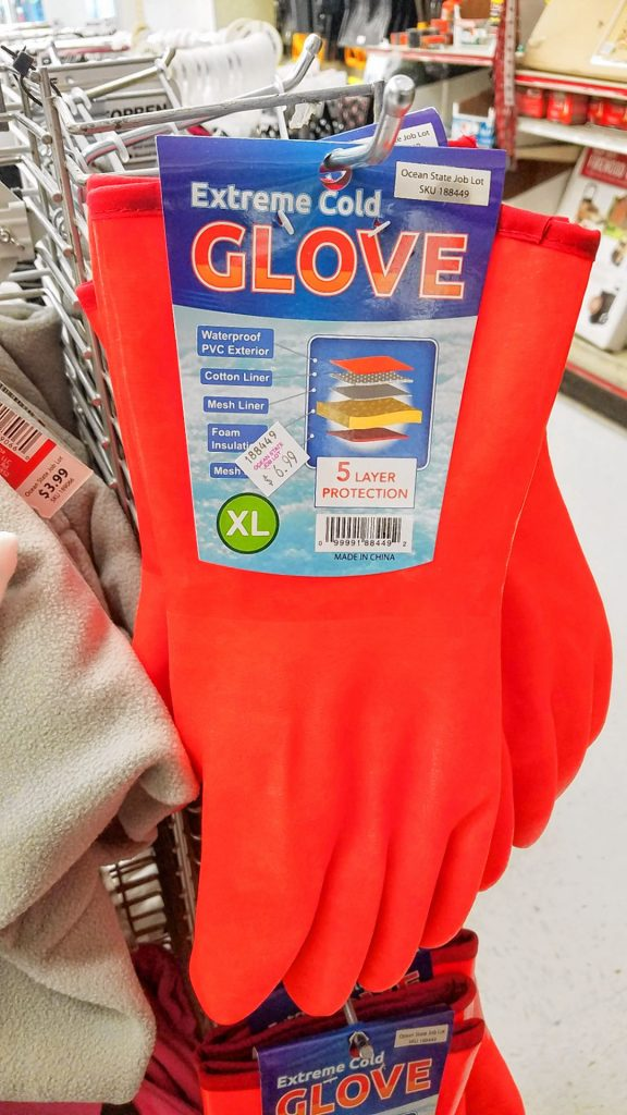 For those of you who get super-cold hands, you need these Extreme Cold Glove(s). Covered with a color that can be seen from space, you'll never have an excuse for losing your gloves again. JON BODELL / Insider staff