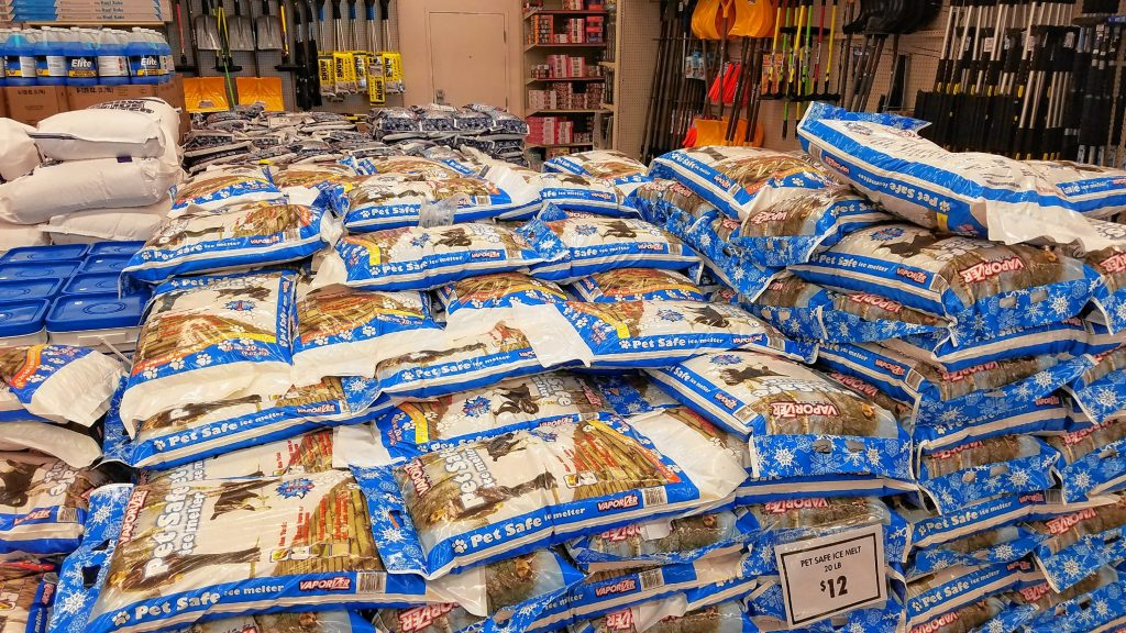 This is the perfect time to stock up on your ice melt, and Ocean State Job Lot has literally tons of it in stock.   JON BODELL / Insider staff