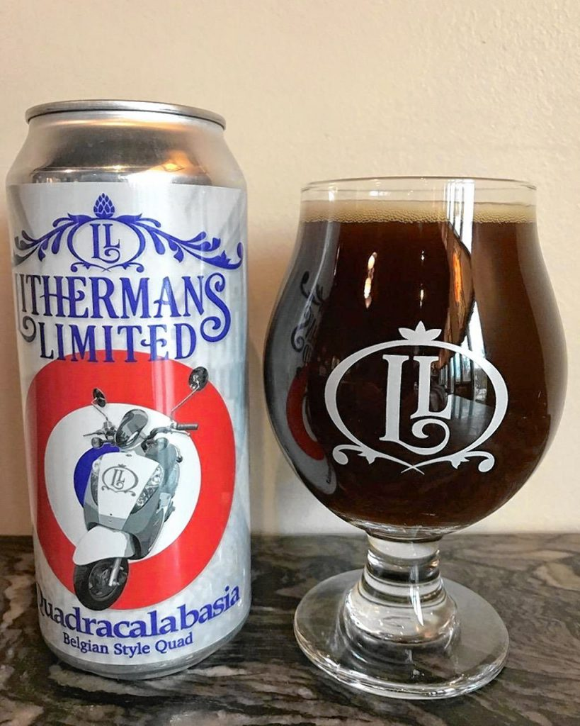 Quadracalabasia, a Belgian-style quad by Lithermans Limited, is now available at the brewery only. This quad is made with pumpkins from Marshall Pumpkin Farm in Boscawen -- no pumpkin spice -- and packs a punch at 11