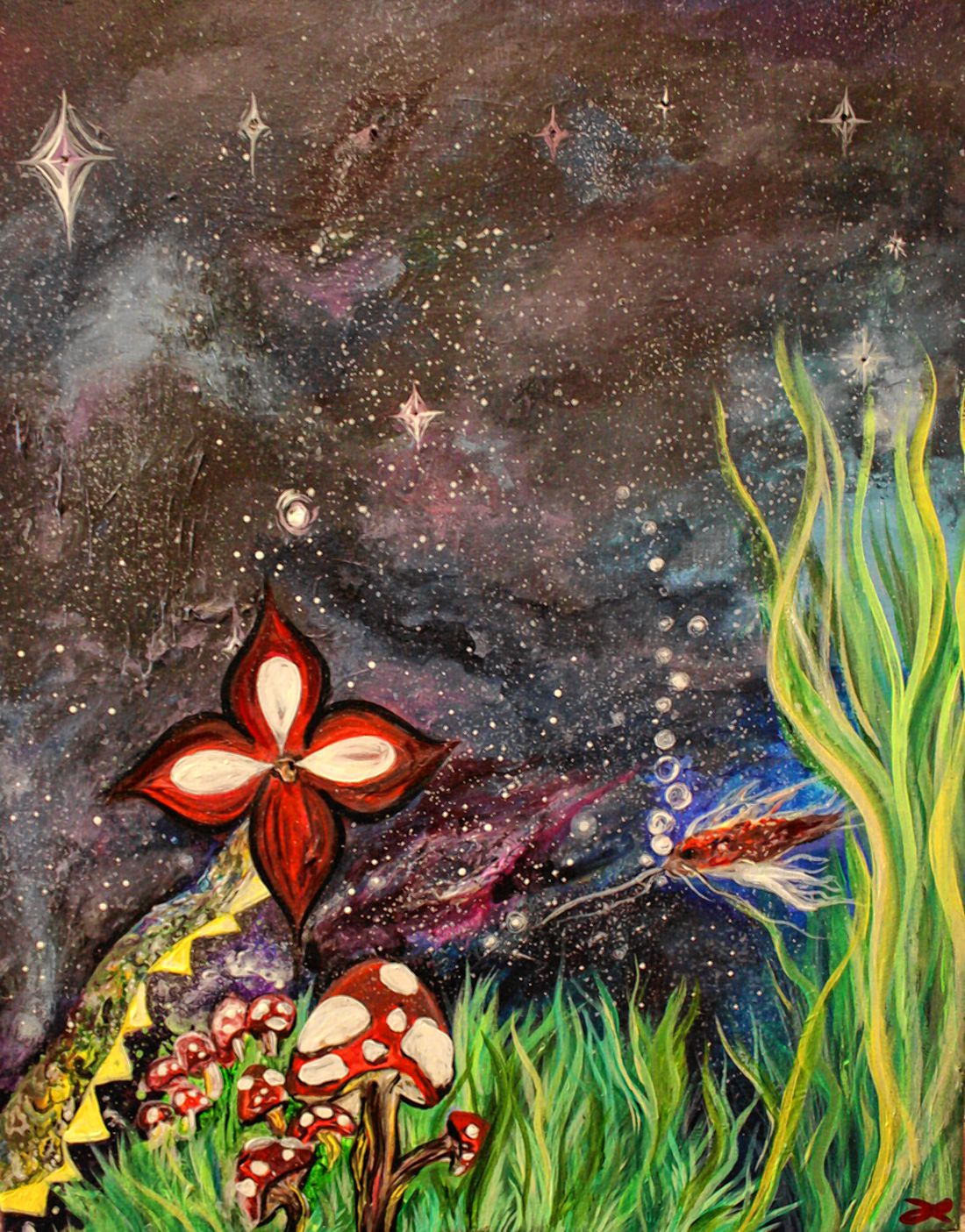On Display: Paintings by Fallon Rae at Dos Amigos Burritos - The Concord Insider
