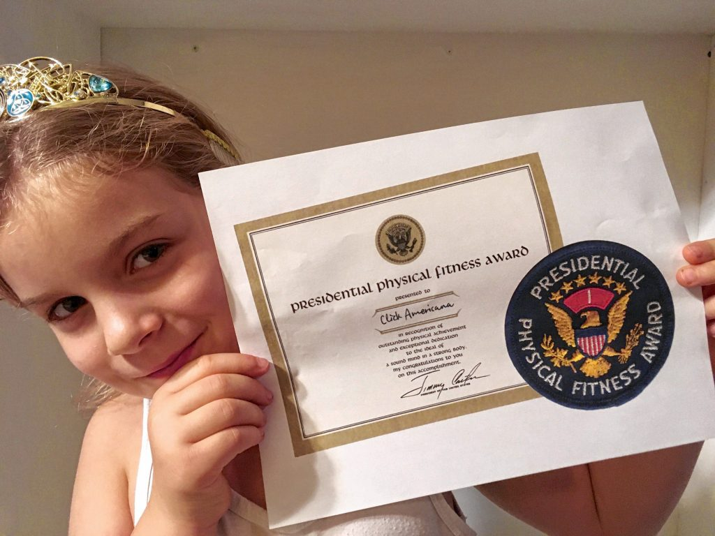 Mike Morris will never forget when Paul, the 10-year-old, busted out 18 pull-ups in elementary school. Morris still can't reach that mark, but at least his daughter has won a Presidential Physical Fitness Award. Courtesy of Mike Morris