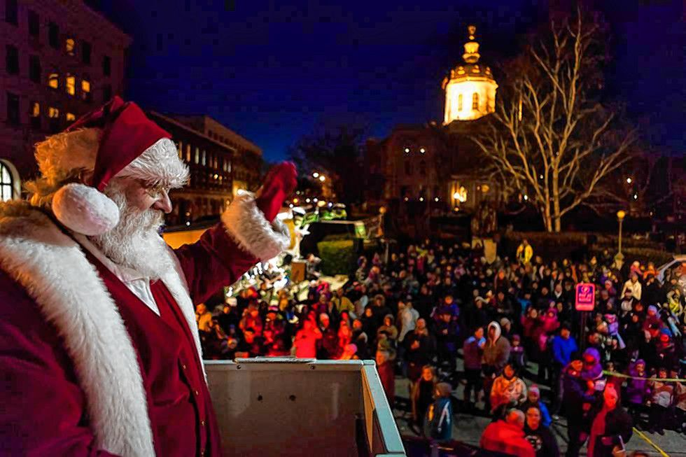 The Concord Christmas tree lighting celebration will take place Friday, Nov. 29, 2019 in front of the State House. Courtesy of City of Concord