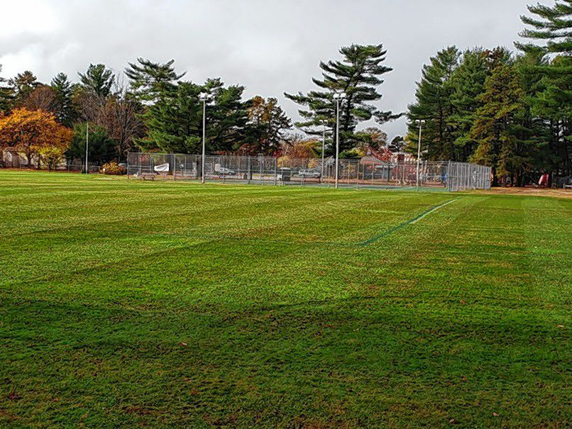 Concord Parks and Recreation began aerating and cleaning up the city's athletic fields last week. By the middle of this week, all 20 athletic fields should be aerated. Courtesy of City of Concord