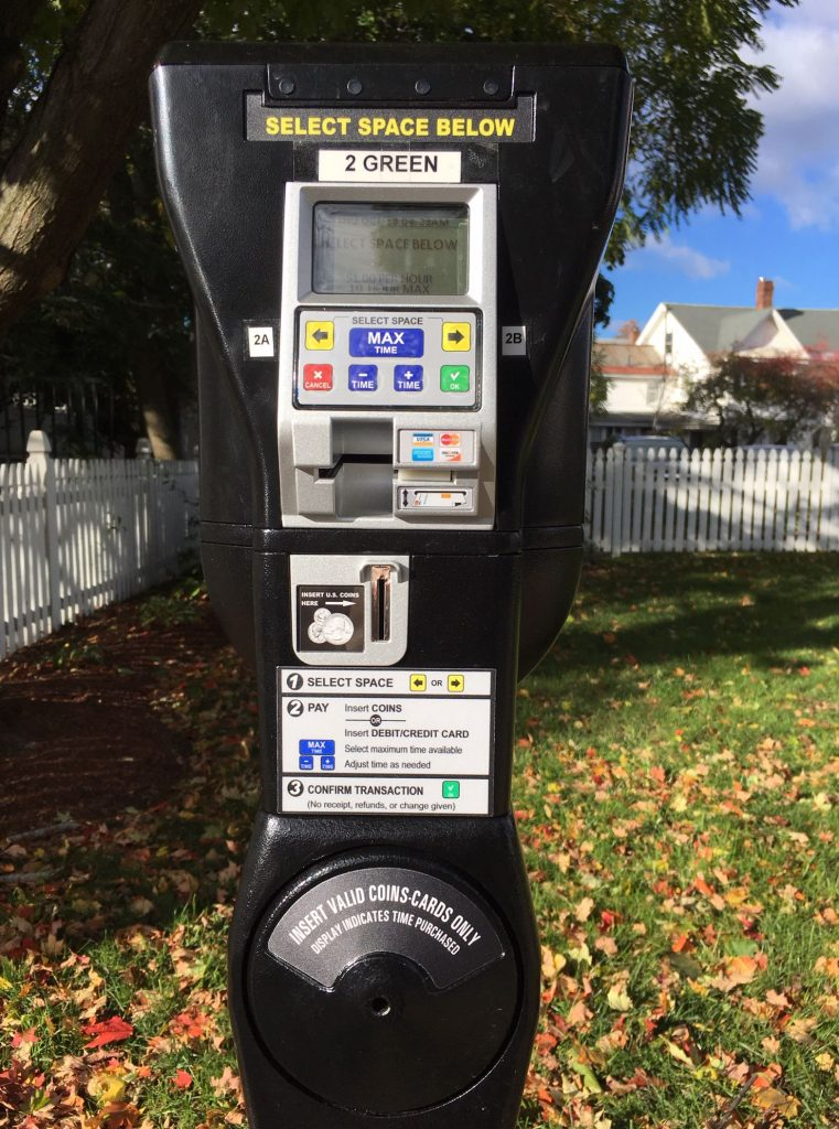 One of the city's new smart meters on Green Street is shown in October 2018.  Caitlin Andrews
