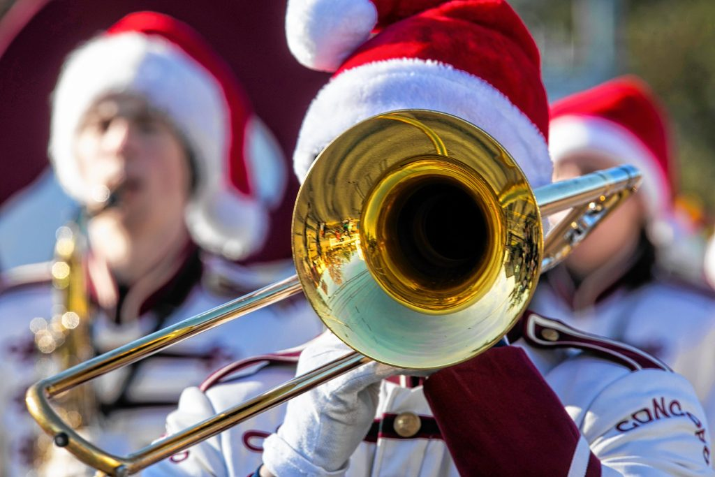 The Concord High School Marching Band played at the Concord Christmas parade on Saturday morning, November 23, 2019. GEOFF FORESTER