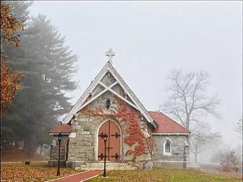 Clara Perkins Chapel at Blossom Hill Cemetery