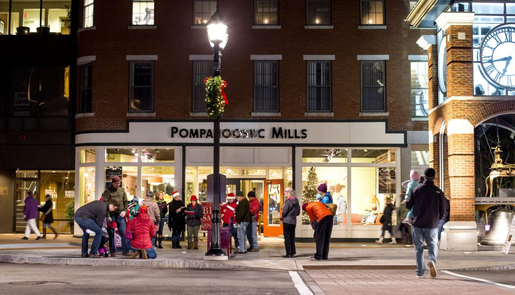 Downtown Concord during Midnight Merriment on Friday night. GEOFF FORESTER