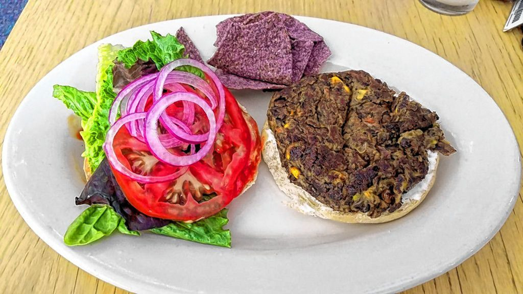 A vegan burger from Willows in Concord.