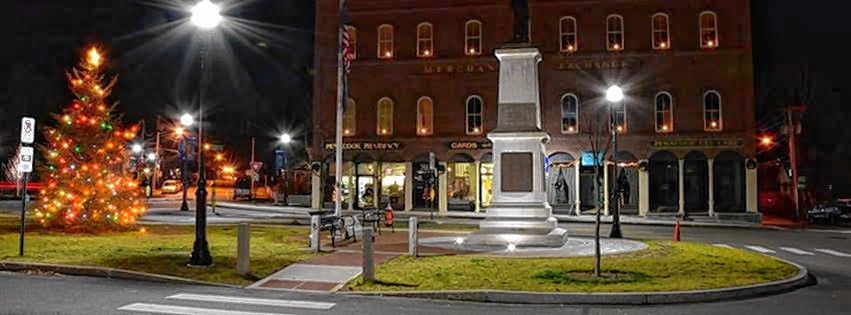 The 13th Annual Penacook Tree Lighting Celebration at Boudreau Square will be held on Wednesday, December 4th, beginning at 5:30 p.m. Courtesy of City of Concord