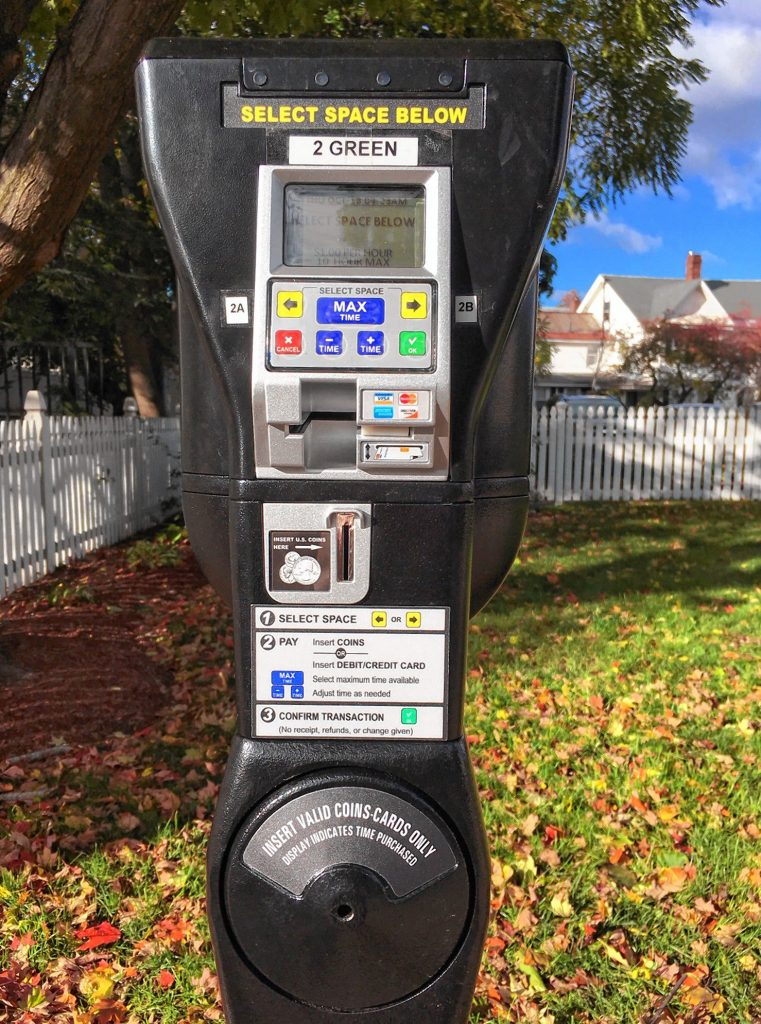 New parking meters have been installed around downtown.
