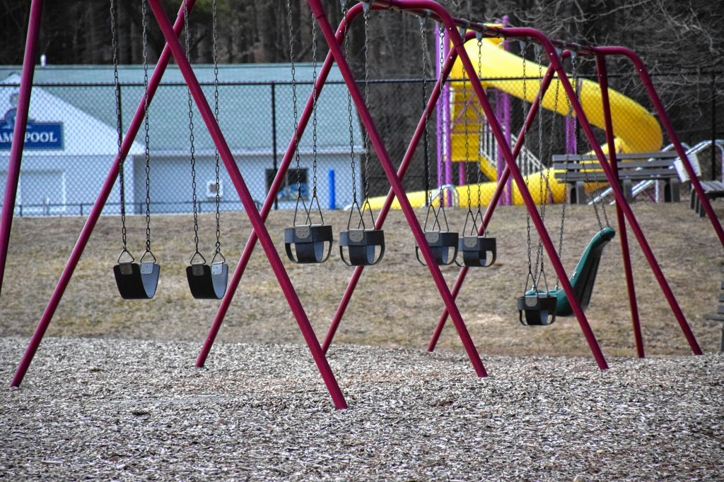 Adams Playground in Peterborough is now closed to the public. Courtesy Photo