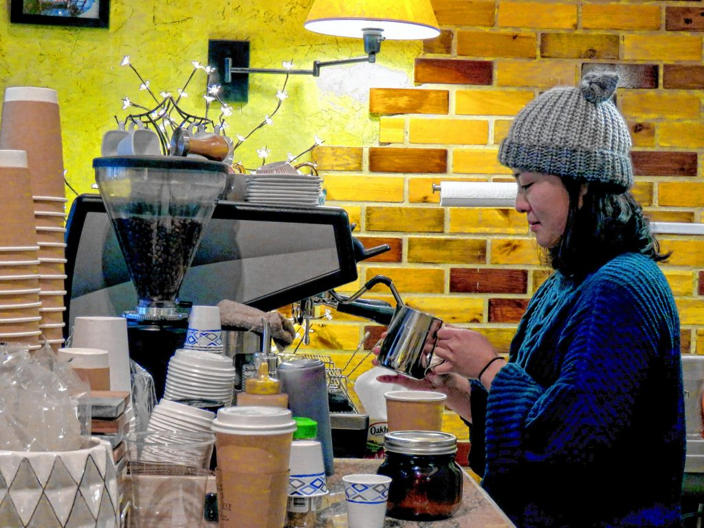 Kaye Place in Penacook serving up custom coffee and tea drinks plus an array of pastry items.