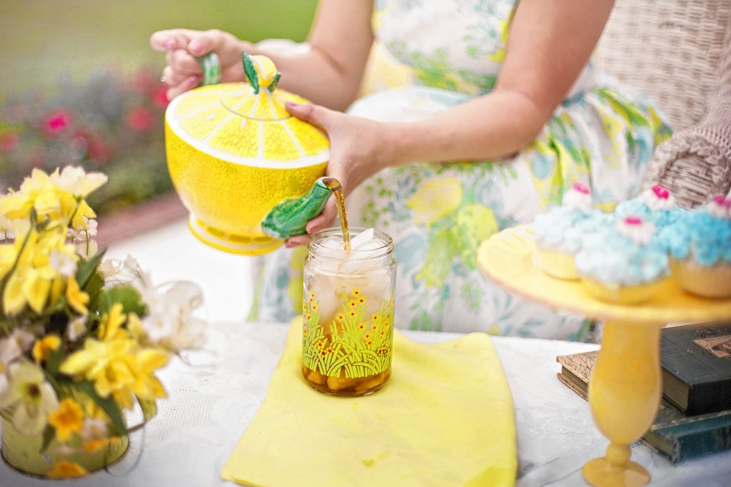 Summer is the perfect time to set up a tea party in the yard. Dressing up is fun but optional.