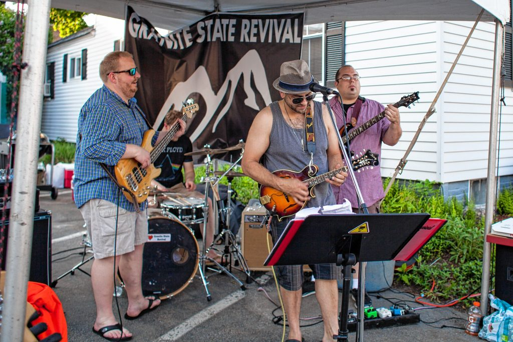 Granite State Revival performs during Rock 'N Race 5K in downtown Concord on Thursday, May 18, 2017. ELIZABETH FRANTZ
