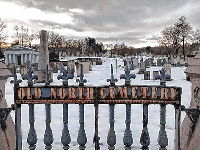 Old North Cemetery in Concord, New Hampshire.