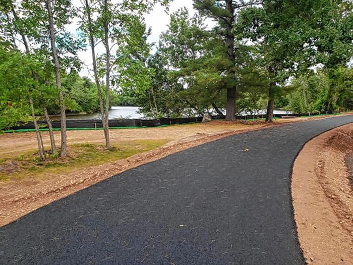 Terrill Park's new paved pathway.