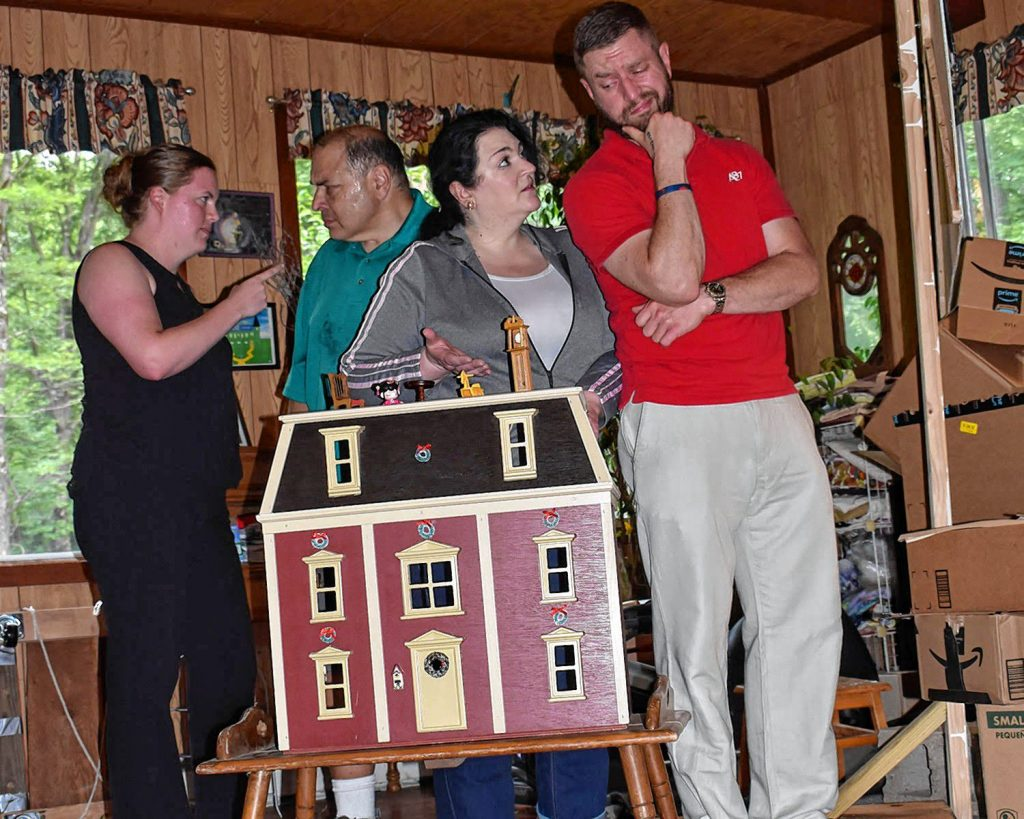 """The cast rehearses """"Doll House"""" by Jane """"J.J."""" Hunt."""