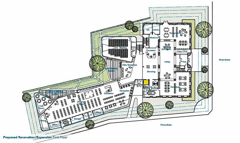 A proposal for expanding the main branch of the Concord Public Library.  Breton, Stefanie