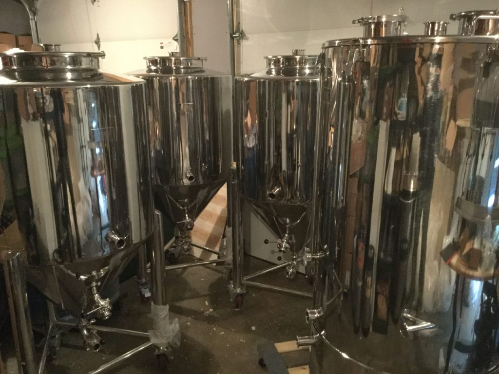 Here's a look at some brew tanks and labels used by Big Water Brewery in Salisbury. Courtesy of Big Water Brewery