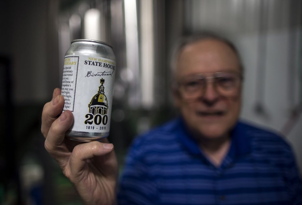 Dave Currier owns the Henniker Brewing Company, and with the work of his head brewer Devin Bush, they're recreating a 200 year old New Hampshire beer recipe called State House Bicentennial. GEOFF FORESTER
