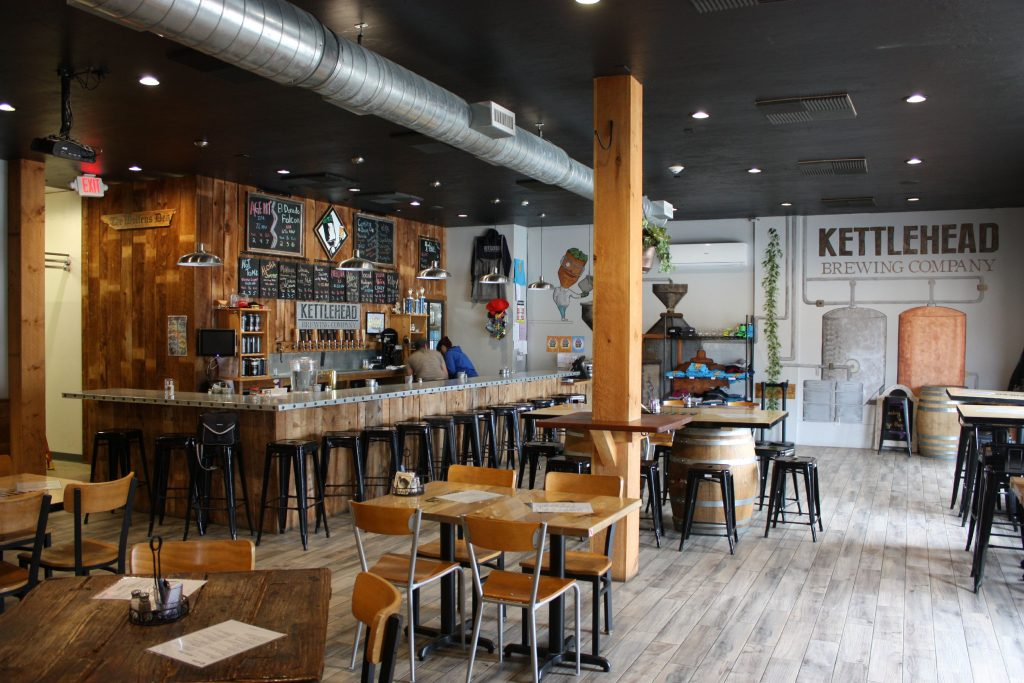 Kettlehead Brewing Co., located at 407 W. Main St. in Tilton, offers a wide-open taproom, complete with 12 beers on tap and a full food menu. There's also a new game room off the side with a garage door-style window that opens to the outdoor patio. JON BODELL / Insider staff