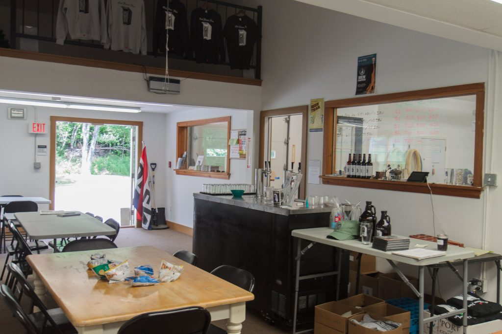 The tasting room at Out Haus Ales, which is open Thursday and Friday from 4:00-7:00 and on Saturday from 12:00-4:00