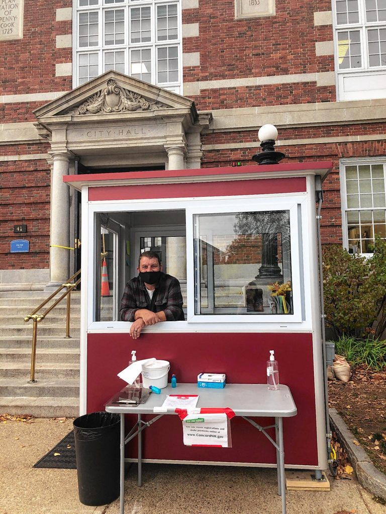 There is now a booth outside of City Hall where visitors can check in with one of our greeters upon their arrival. Our greeters will be happy to help you do business at City Hall.