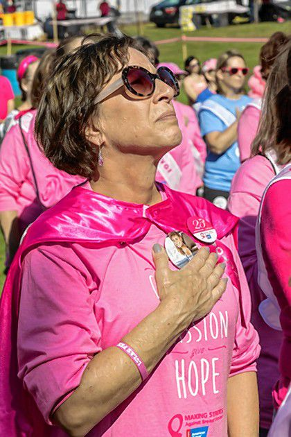 Scenes from previous Making Strides event. Though the coronavirus pandemic has canceled many things, cancer is not canceled.
