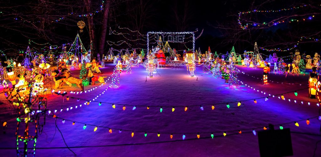 The Christmas display on Borough Road in Concord is once again one of the biggest light displays in the city on Friday night, December 21, 2019. Cars stopped to gaze and photograph the field full of lights. GEOFF FORESTER