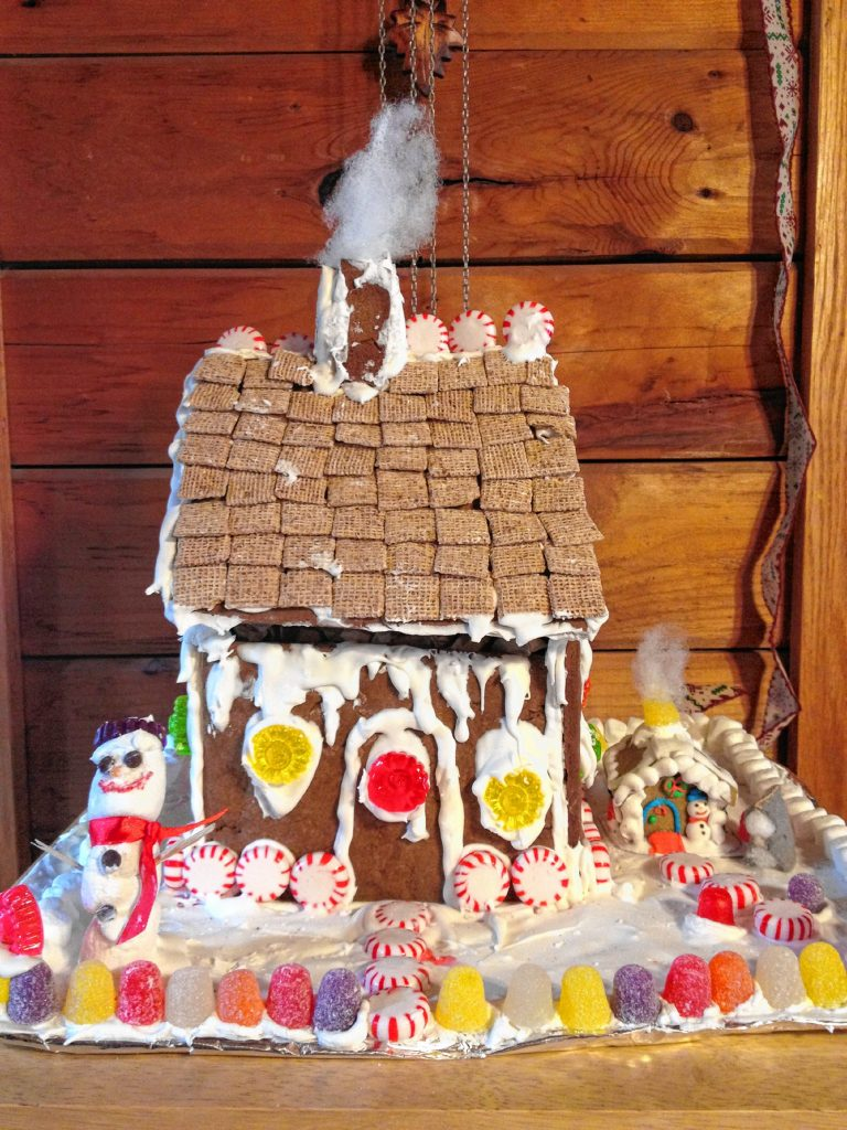 For an over-the-top baking project, construct a whimsical gingerbread house to bestow on a loved one. The gingerbread will last for weeks, stoking the celebratory vibe into the new year.  Photo/Cheli Mennella
