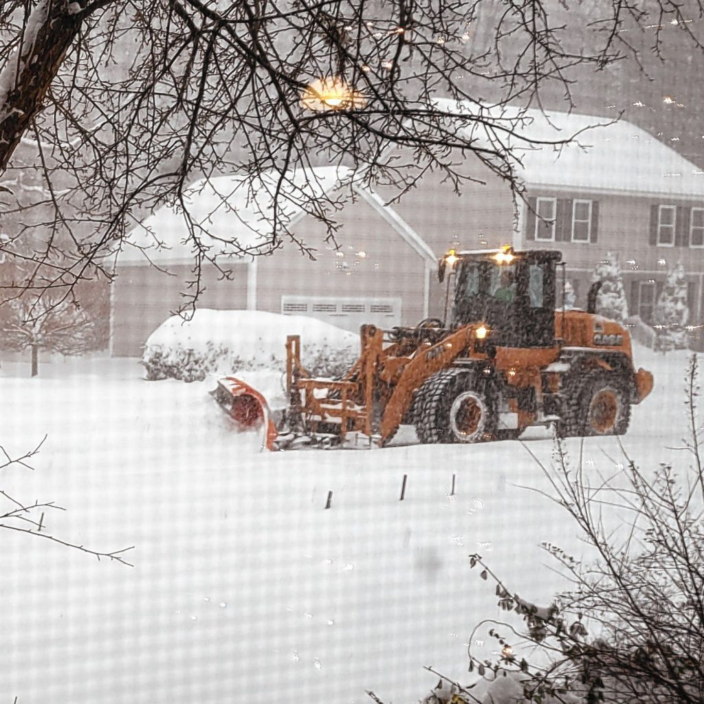 The city of Concord plows the streets during the Dec. 17, 2020.