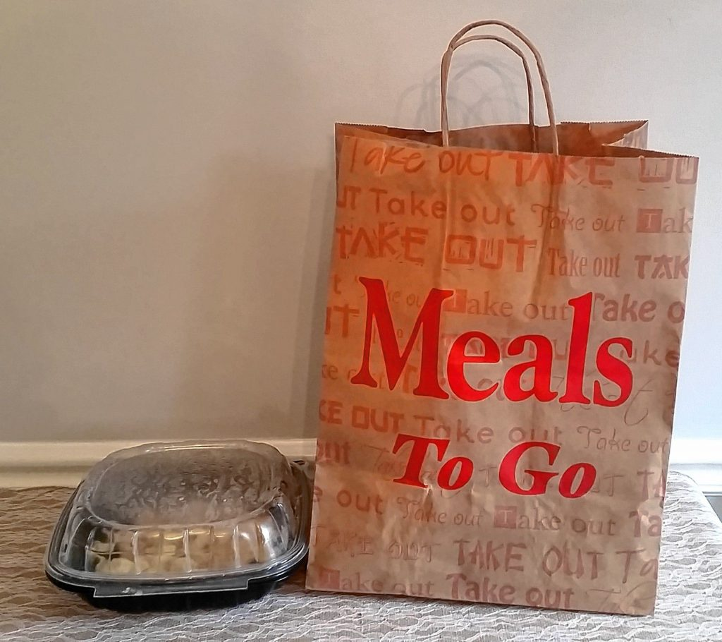 Takeout carryout bag