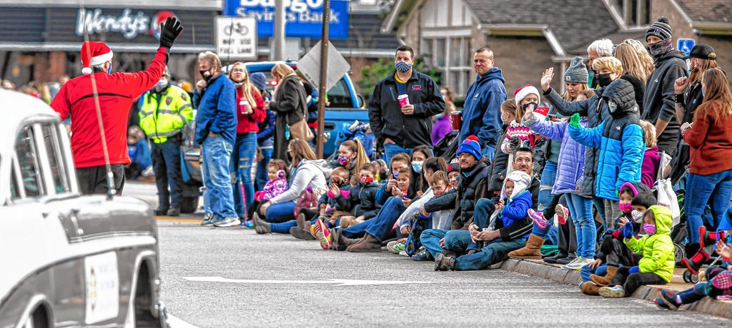 For the most part of the crowd people were masked at the Annual Concord Christmas parade on Loudon Road Saturday morning, November 21, 2020.