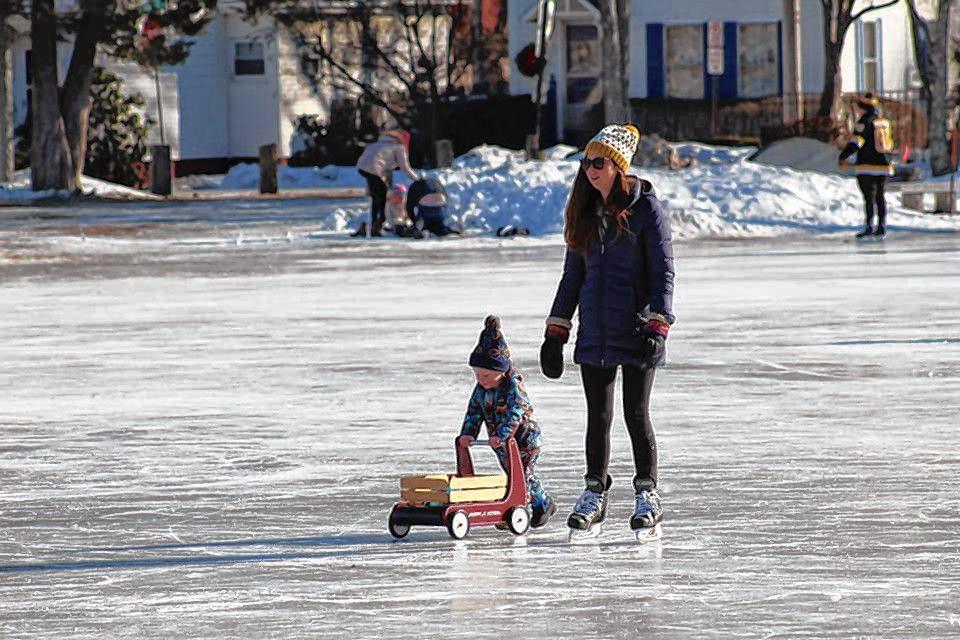 White Park Pond welcomed back skaters on Jan. 9, 2021.