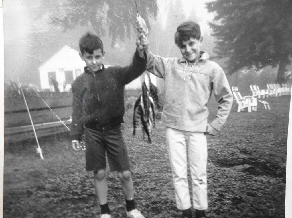 Michael Tougias, then 12, and his brother, age 10, with their catch of the day.