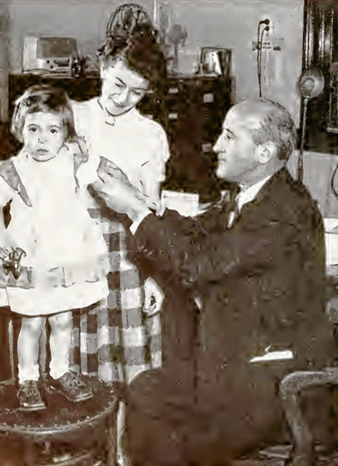 One of the youngest citizens of Concord is shown receiving her vaccination from the Concord Health Officer in the year 1952. The Health Department vaccinated 385 Concord children in 1952 at multiple immunization clinics around the city.