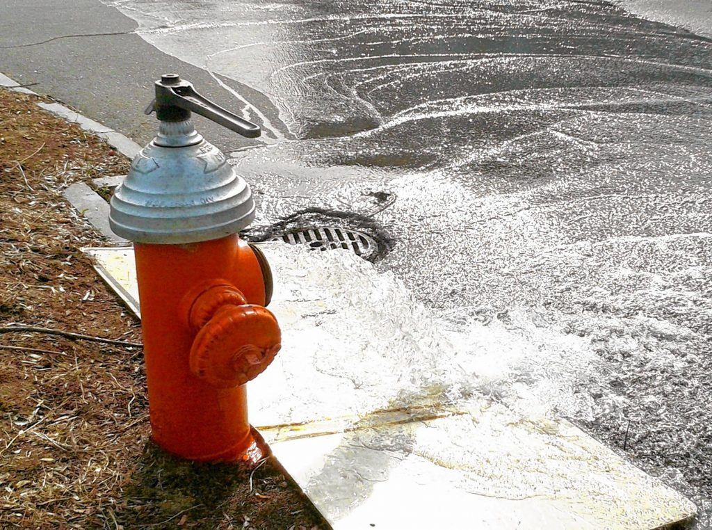 The city of Concord is beginning the flushing of hydrants.