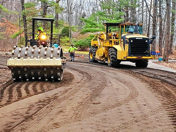 Paving work has started on Penacook Street in Concord from Rumford Street to Auburn Street.