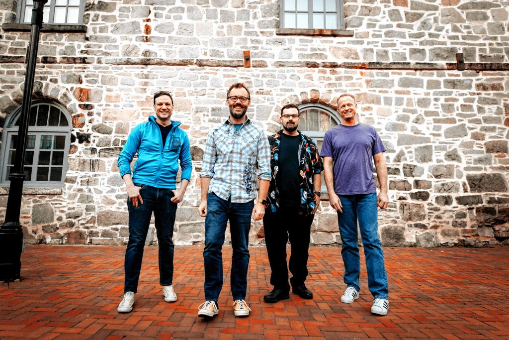 Andrew North (keys and vocals) and the Rangers Dale Grant (drums), Chip Spangler (bass, and Rob O'Brien (brass).